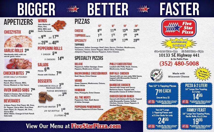 fivestar belleview menu1